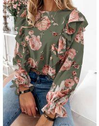 Блуза - код 4256 - зелена
