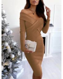 Фустан - код 6130 - кафеава