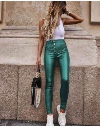 Панталони - код 4181 - темно зелена
