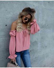 Блуза - код 5574 - розова