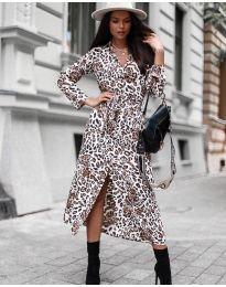 Фустан - код 5555 - 3 - бело
