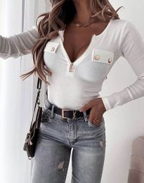 Блуза - код 11615 - бело