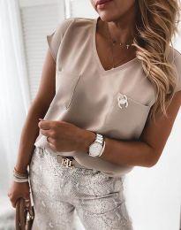 Блуза - код 6306 - 2 - кремова