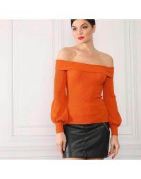 Блуза - код 0247 - портокалова