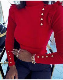 Блуза - код 11483 - 2 - црвена
