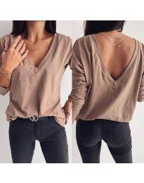 Блуза - код 3376 - кремова