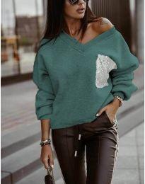 Блуза - код 904 - зелена