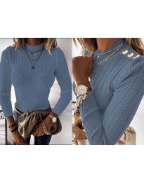Блуза - код 9930 - светло сина