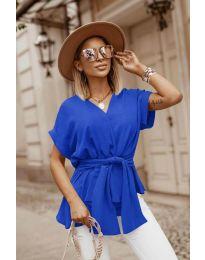 Блуза - код 3070 - темно сина