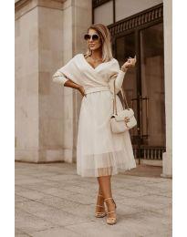Фустан - код 9994 - бело