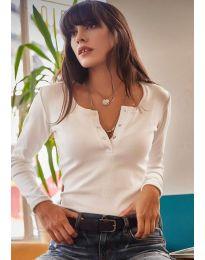 Блуза - код 11495 - 1 - бела