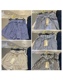 Кратки панталони - код 7171 - шарена