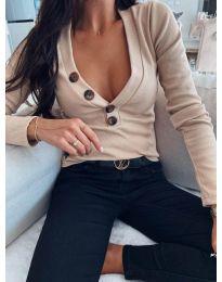 Блуза - код 3421 - кремова