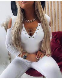 Блуза - код 4474 - бело