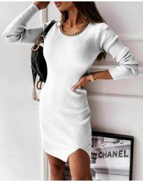 Фустан - код 4545 - бело