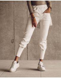 Панталони - код 5664 - бело