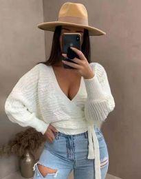 Блуза - код 3728 - бела