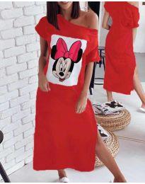 Фустан - код 6656 - црвена