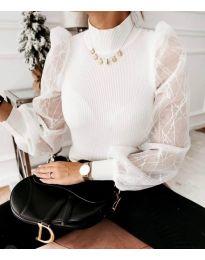 Блуза - код 3522 - бела