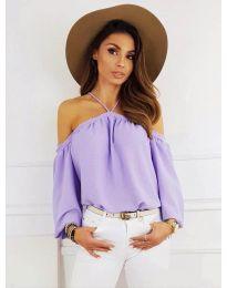 Дамска блуза в лилаво - код 6561