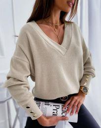 Блуза - код 5236 - кремова