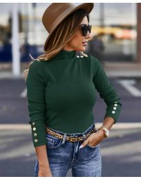 Блуза - код 5259 - темно зелена