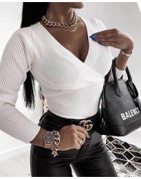 Блуза - код 6392 - бела