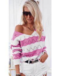 Блуза - код 8689 - розова