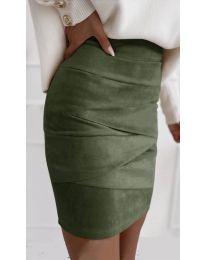 Сукња - код 7451 - путер зелена