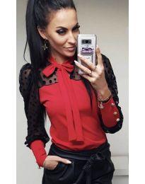 Блуза - код 7262 - црвена