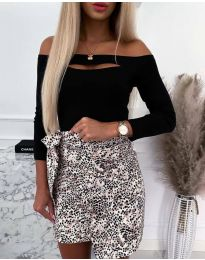 Блуза - код 4205 - црна