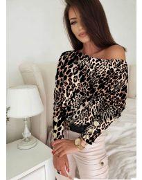 Блуза - код 5156 - 2 - шарена