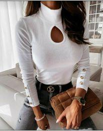 Блуза - код 9917 - бело
