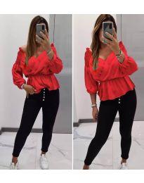 Блуза - код 7771 - црвена