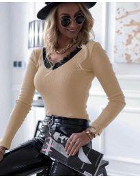 Блуза - код 7706 - 4 - праска