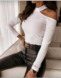 Блуза - код 8570 - бело