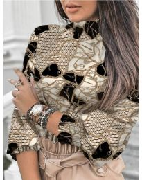 Блуза - код 611 - 1 - кремова