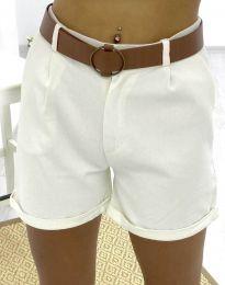 Кратки панталони - код 2236 - 1 - бело