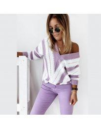 Блуза - код 0907 - виолетова