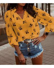 Блуза - код 6650 - окер