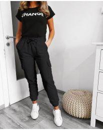 Панталони - код 3089 - 2 - црна