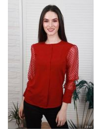 Блуза - код 0631 - 3 - црвена