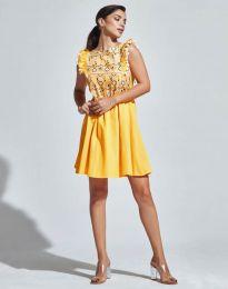 Фустан - код 1482 - 3 - жолта