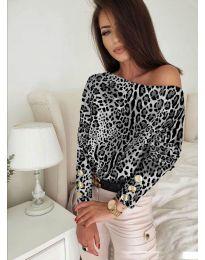 Блуза - код 5156 - 4 - шарена