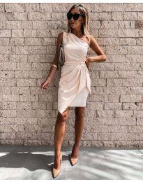 Фустан - код 2457 - кремова