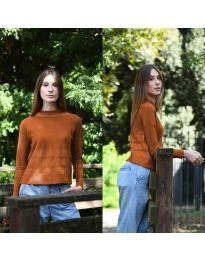 Блуза - код 912 - кафеава