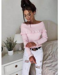 Блуза - код 7131 - розова