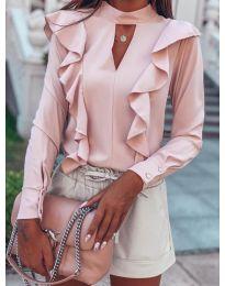 Блуза - код 7715 - розова