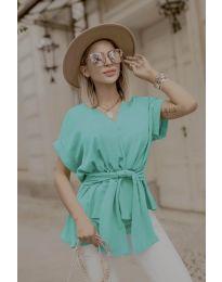 Блуза - код 3070 - тиркизна
