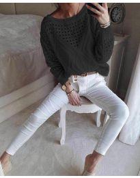 Блуза - код 6182 - црна